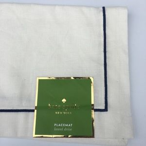 Kate Spade PLACEMAT laurel drive Navy Cream NEW